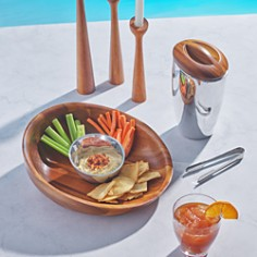 Nambé - Luna Serving Board with Dipping Dish - 100% Exclusive